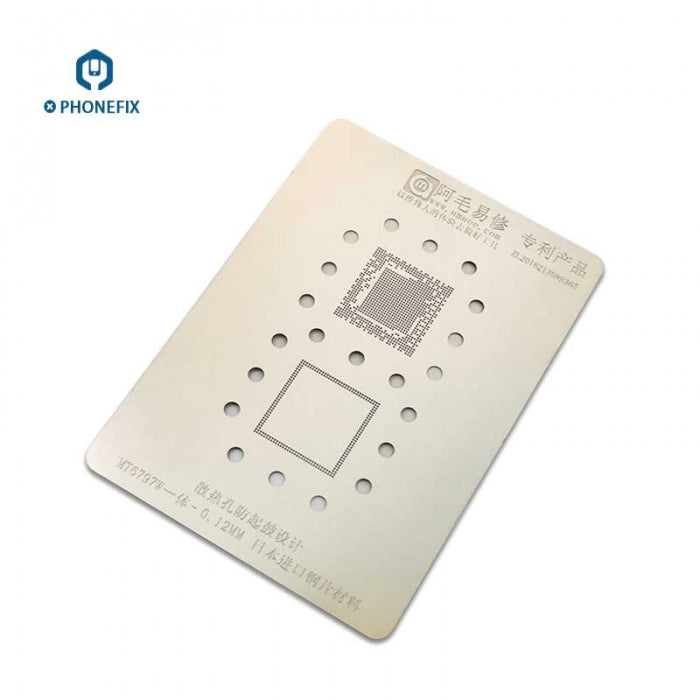 MTK MT6797W CPU BGA Reballing Stencils Kit 0.12mm Steel Net