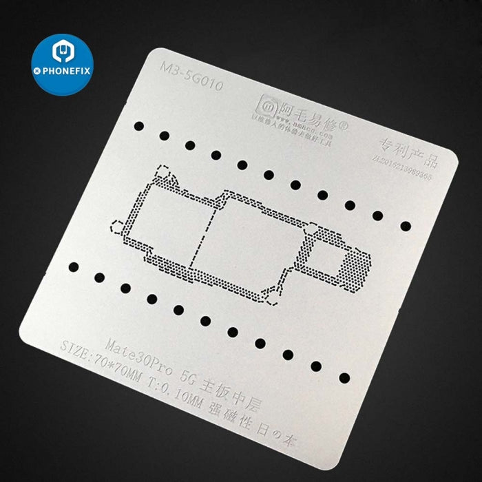 Middle Frame BGA Reballing Stencil Kit For Huawei Mate 30 Pro 4G 5G