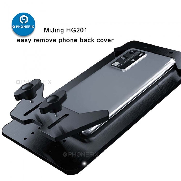 MJ HG201 Phone Back Cover Broken Glass Repair Holder Fixture
