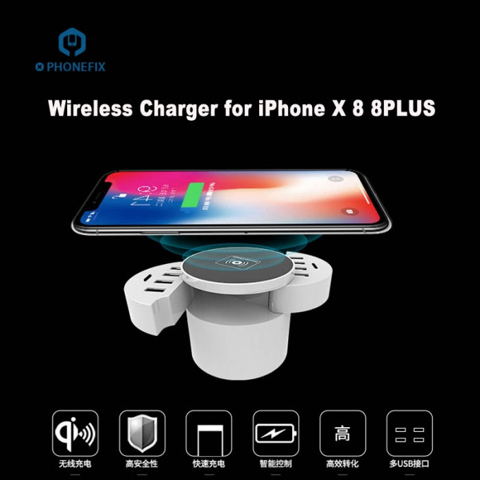 Multiport USB Quick Charger Station Hub For Iphone Huawei Samsung