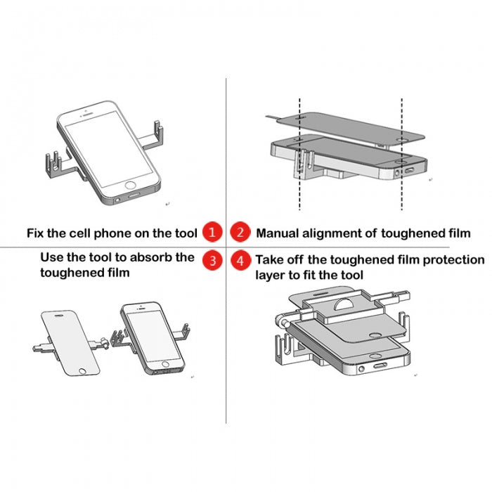 Fixed Holder Bracket Phone Screen Protector Film Cover Attach Holder