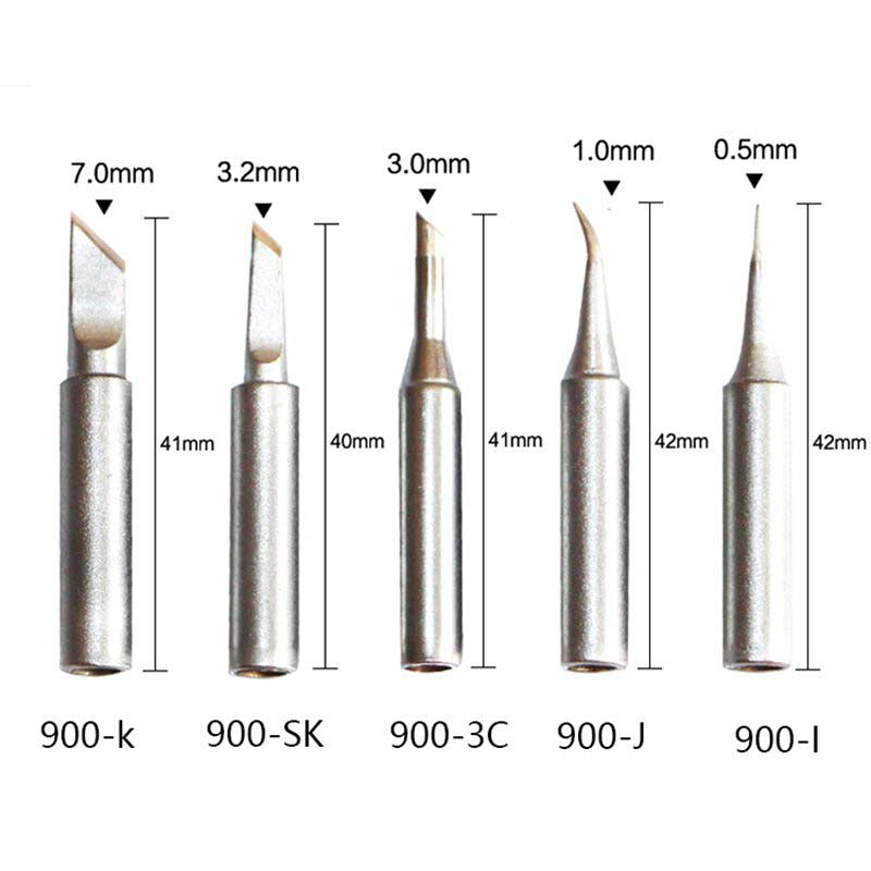 QUICK Lead-free 900M Serise Iron Tips for 936 936A Soldering Station