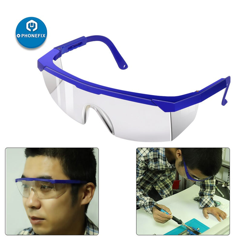 Safety Clear Lens Goggles Anti-chemical Soldering Eye Protective Glasses
