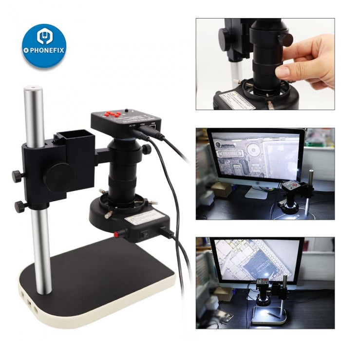38MP 60F/S HDMI Microscope Camera for Phone Soldering Repair