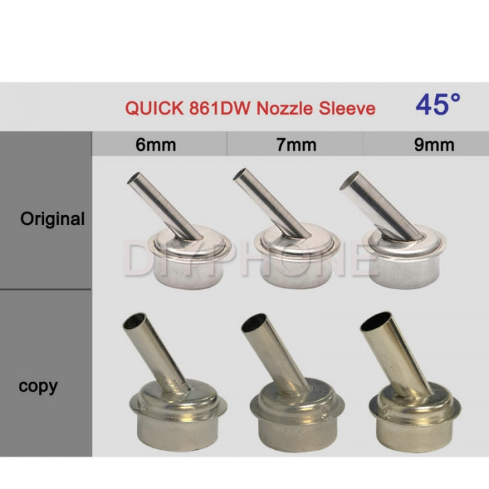 45 Degree Heat Gun Nozzle Sleeve for QUICK 861DW Soldering Station