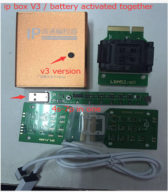 IP Box V3 Apple Programmer for iPhone iPad NAND Memory Upgrade