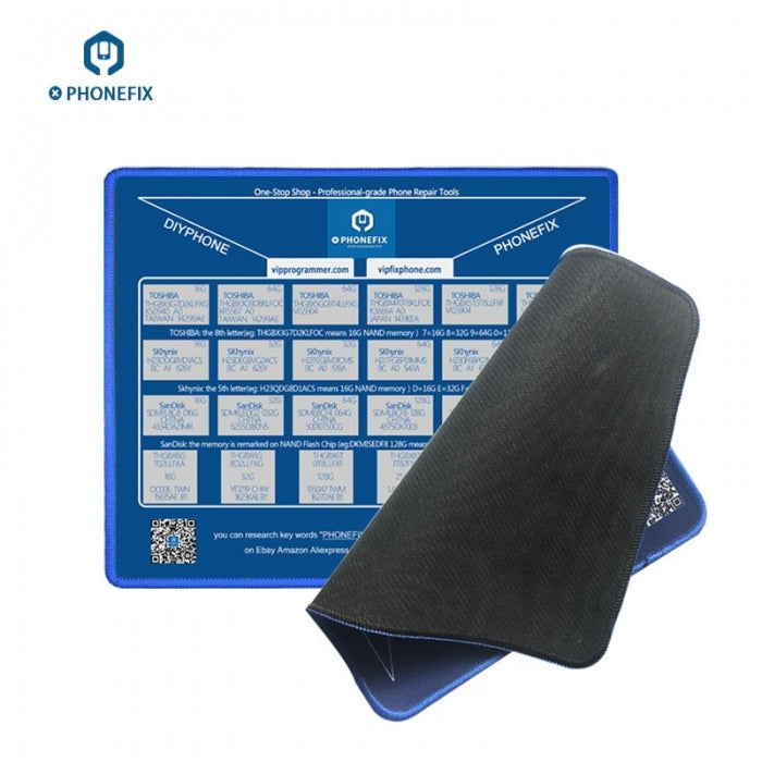Mouse Pad with iphone NAND Memory Capacity Lookup Table Mouse Mat