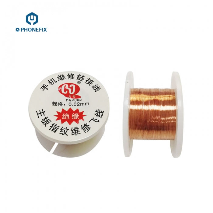 Insulated 0.01mm 0.02mm Welding Jumper Wire for Phone PCB Solder Tool
