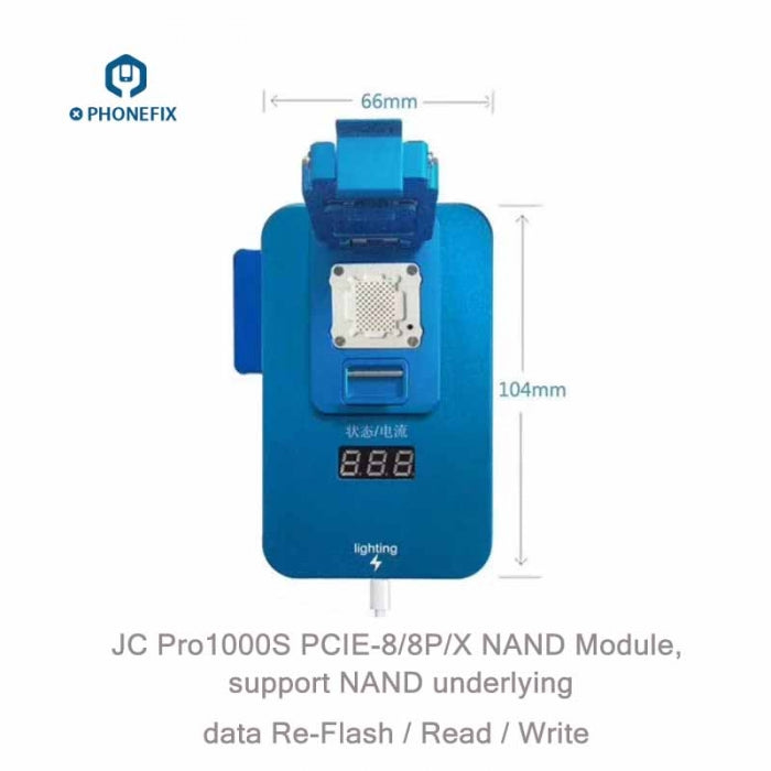 JC PCIE NAND Test Fixture for iPhone 8 8P X Data Read Write Tool
