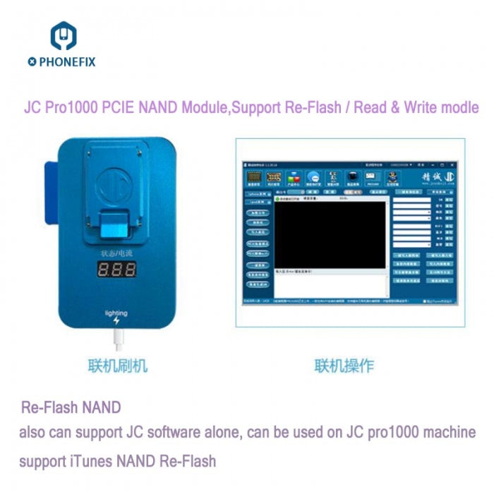 JC PCIE NAND Programmer for iPhone 6S 7 7P iPad NAND Repair