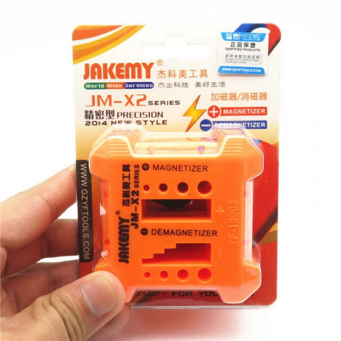 JM-X2 2 in 1 Quickly Demagnetizer Magnetizer Filling Screwdriver Tool