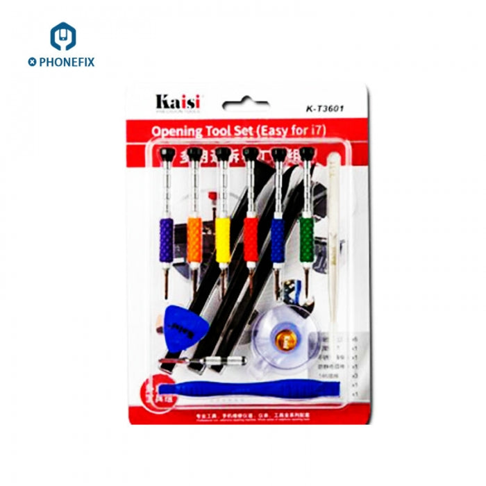 KT-3601 Opening Tool Set Screwdrivers Crowbar Suction Cup