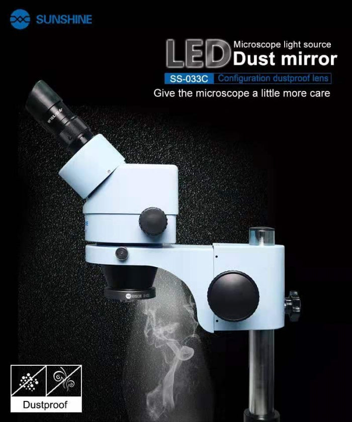 2-IN-1 USB LED Adjustable Light + Dust-Proof Mirror for Microscopes
