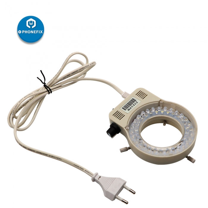 110V 220V Adjustable LED Ring Light Lamp for Microscope & Camera