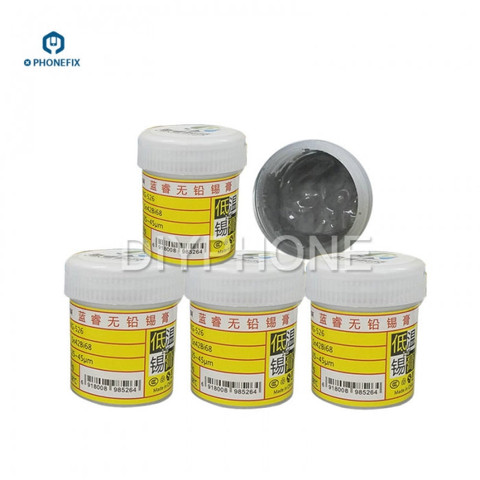 LANRUI Lead-Free BGA Solder Paste for iPhone BGA CPU Welding Repair