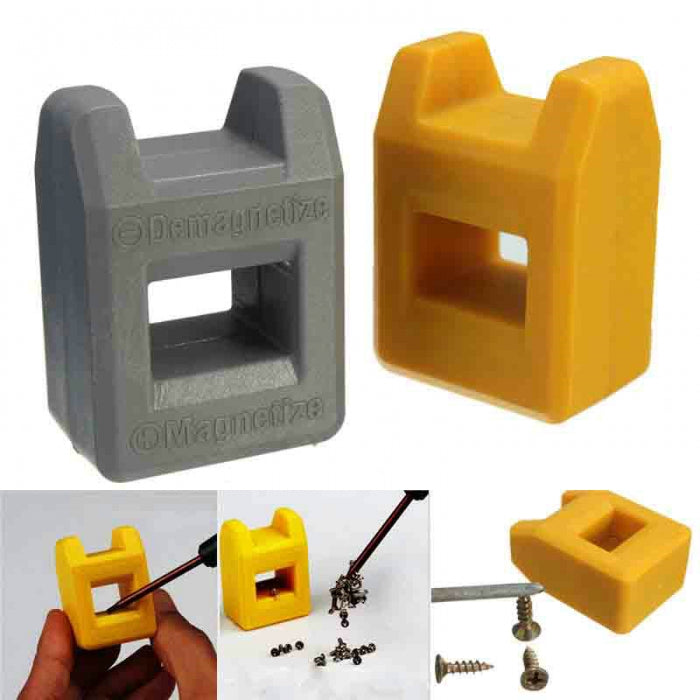 2 in 2 Magnetizer Demagnetizer Tool for Screwdriver Bits Degaussing