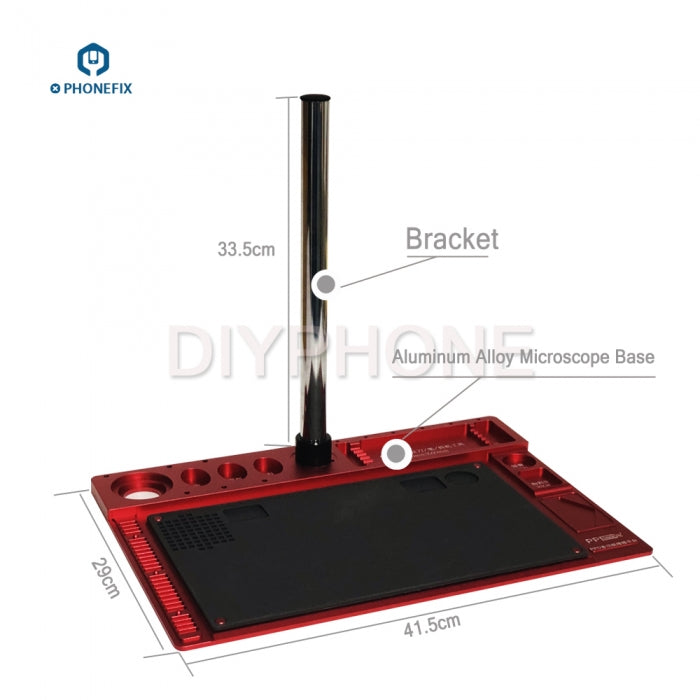 Microscope Fixed Base Aluminum Alloy Pad PCB Soldering Repair Mat