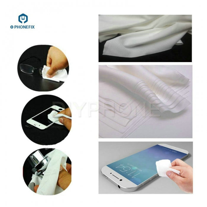50pcs Non-dust Cleaning Cloth for Phone Screen Cleaning Tool