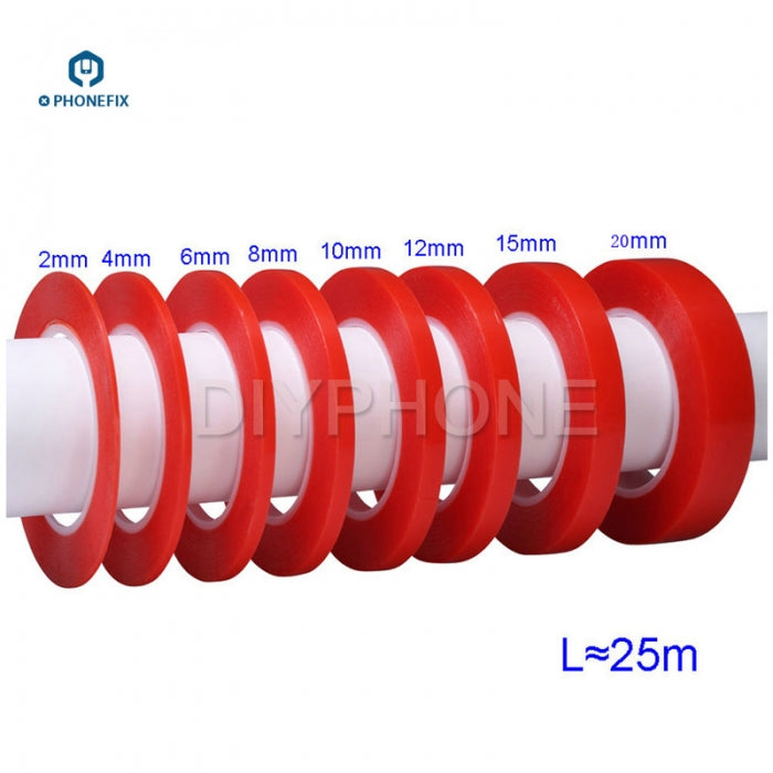 Acrylic PET Red Film Clear Double Sided Tape for Phone Screen Repair