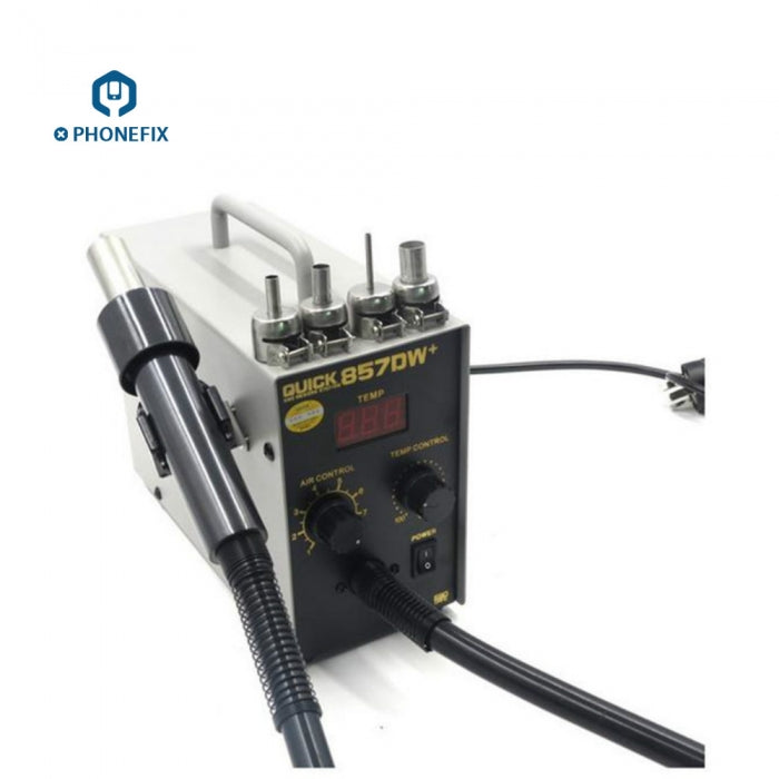 QUICK 857DW+ Lead Free Hot Air Heat Gun Soldering Rework Station