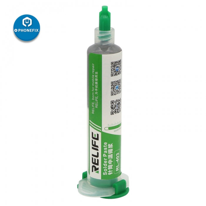 Relife 10CC 183℃ No-Clean Syringe Solder Paste Flux for BGA Repair