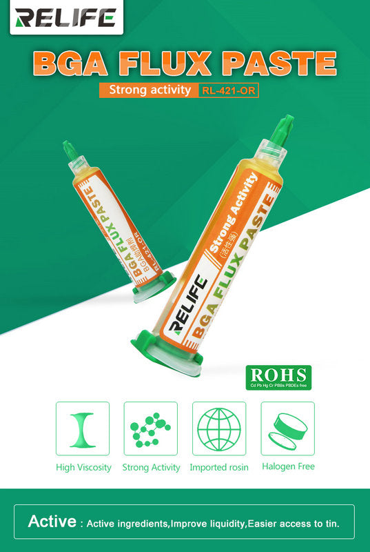 Relife 10CC Strong Activity Soldering Flux Paste for SMD Repair Tool