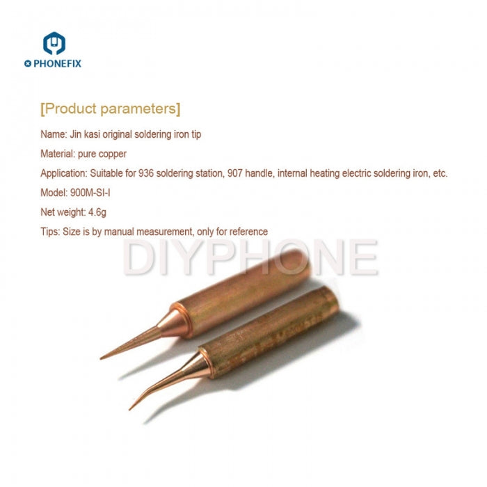 Sharp Jumper Wire Soldering Iron Tips for 936 Series Soldering Station