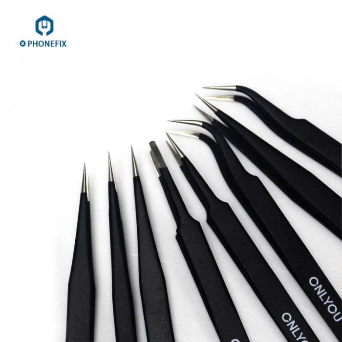 Anti-static Stainless Steel Straight Curved Tweezers