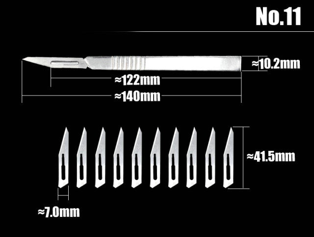 11# 23# Stainless Steel Graver Scalpel Blades for DIY Cutting Tool