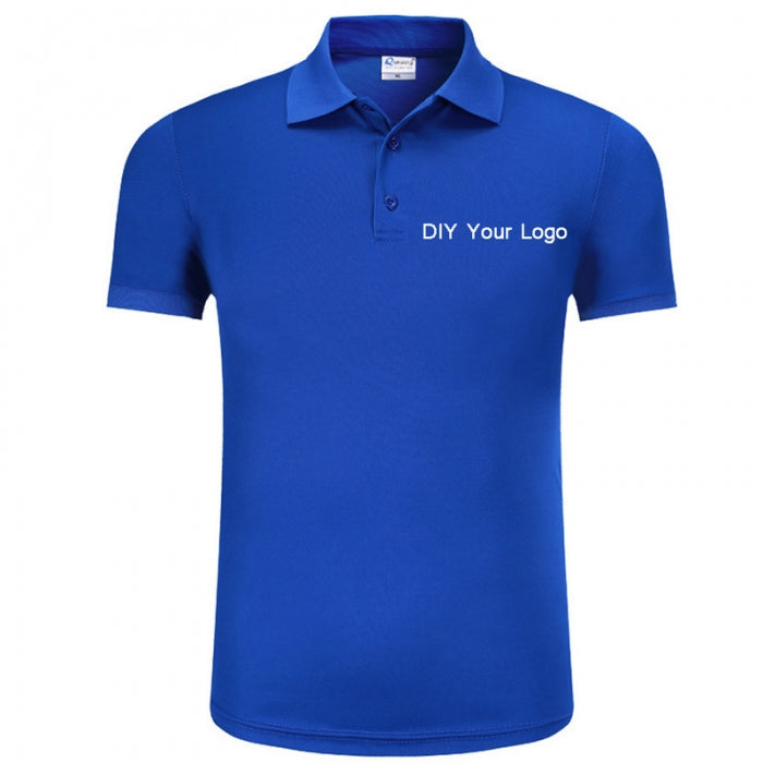 Customized T Shirt Clothes Blue T-shirt for DIY Your Own Brand Logo