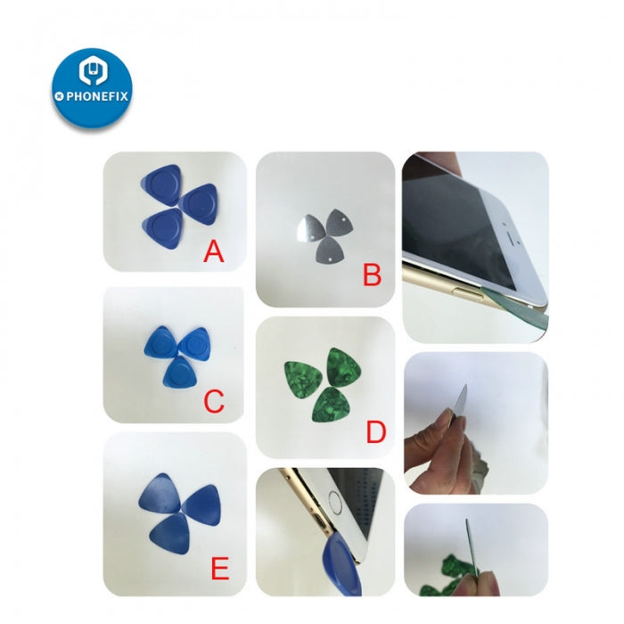 2pcs Triangle Pry Tools Guitar Picks for iPhone Repair Hand Tools
