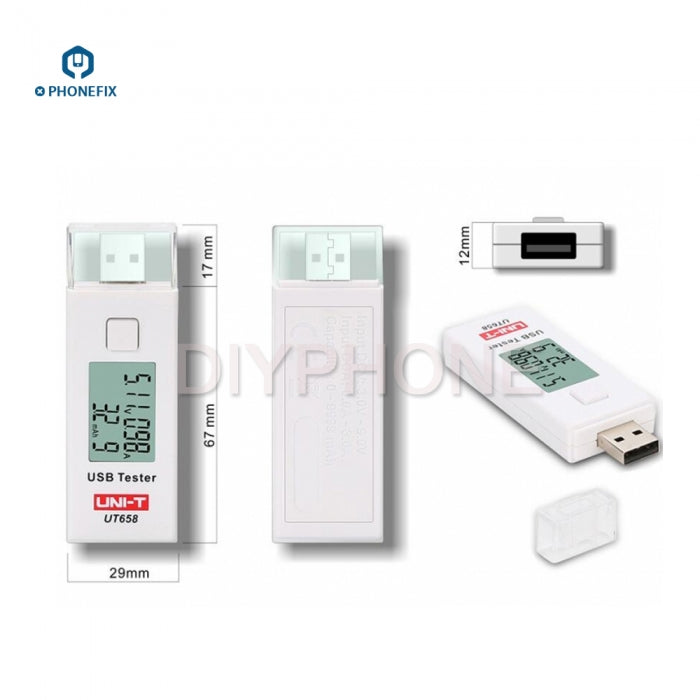 UT658 Mini USB Tester Charger Current Multimeter Digital LCD Display