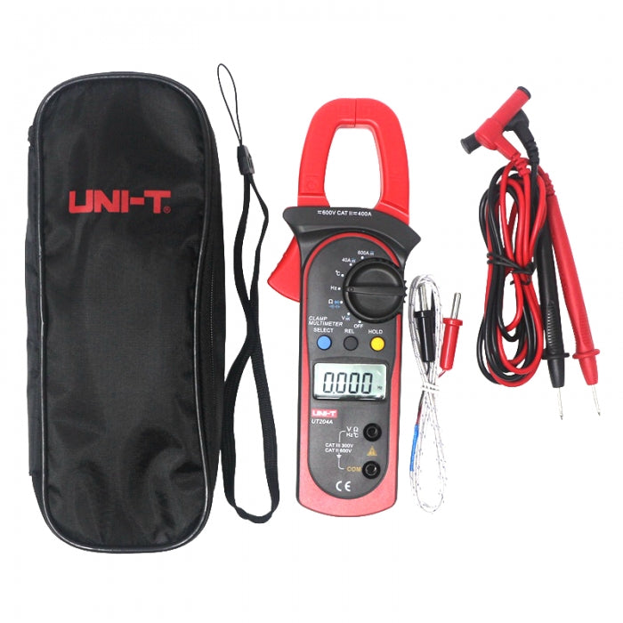 UT204A Multimeter Digital DC AC Digital Temperature Clamp Meter