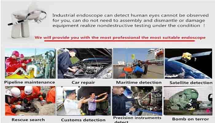 2MP USB Waterproof Endoscope HD Borescope Inspection Camera
