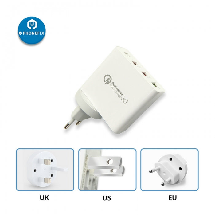 Universal 5V 3A USB Quick Charge 3.0 Type-C Fast Charging Adapter