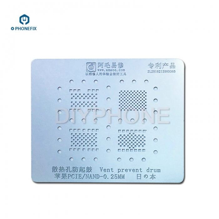Amao BGA Reballing Stencil Template For iPhone 8 X 7 6S 6 5S NAND PCIE