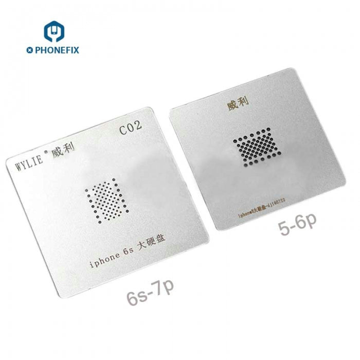 NAND BGA Reballing Stencils Plate Tin Net For iPhone 6SP 7 PCIE Nand