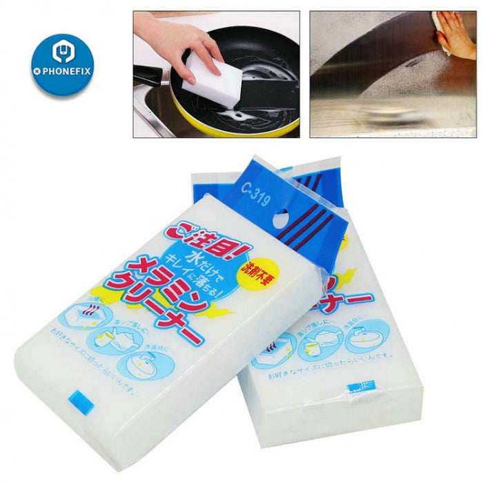 100*60*20mm White Melamine Sponge Magic Sponge Cleaning Eraser