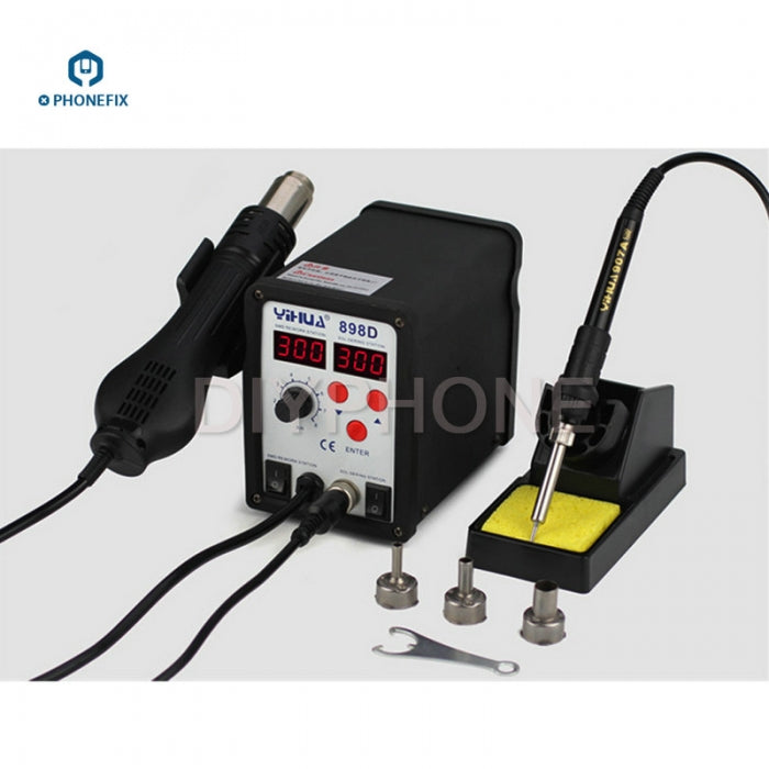 YH898D 2 IN 1 Digital Hot Air Gun Soldering Station SMD Rework Tool