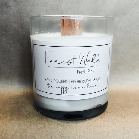 8 oz Forest Walk Wood Wick Candle