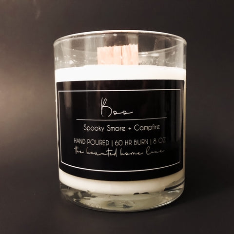 8 oz Boo Wood Wick Candle