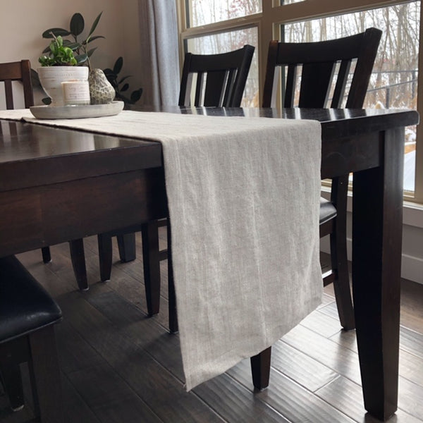 Natural Twill Linen Table Runner