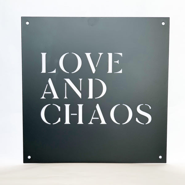 "12"" x 12"" Love and Chaos"