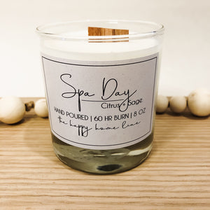 8 oz Spa Day Wood Wick Candle