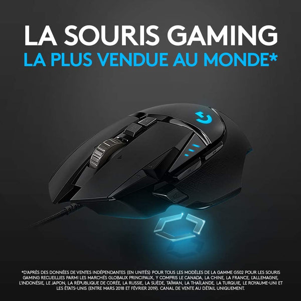 SOURIS LOGITECH G502 HERO HIGH PERFORMANCE - Declic Informatique