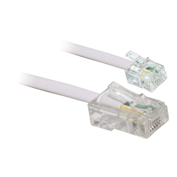 CABLE RJ11/RJ45 BLANC SACHET - Declic Informatique