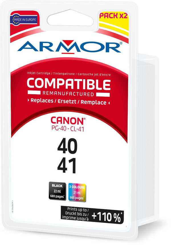 CANON PACK PG-40/CL-41 COMPATIBLE ARMOR - Declic Informatique