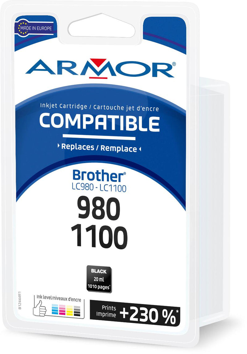 BROTHER LC980/1100 NOIRE COMPATIBLE ARMOR - Declic Informatique