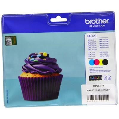BROTHER MULTIPACK  LC123VALBP (NOIR/CYAN/MAGENTA/JAUNE) - Declic Informatique