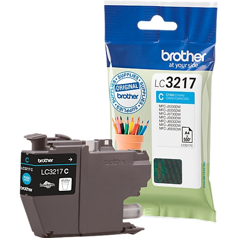 BROTHER LC-3217C CYAN 550P - Declic Informatique